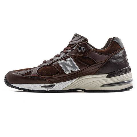 New Balance 991 Sneakers Uomo Marrone In Pelle E Camoscio