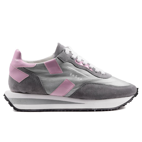 Ghoud Rush X Low Sneakers Donna Grigio Con Vernice Rosa