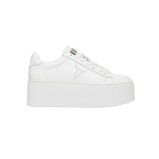 Sneakers Windsor Smith Donna modello Seoul in pelle bianca