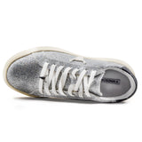 Windsor Smith Sneakers Galaxy Donna Tessuto Glitter Argento