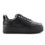 Sneakers Windsor Smith Donna modello Racerr in pelle nera