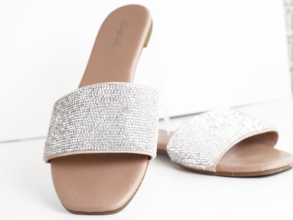 Diamante Slide Sandals