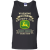 Warning Grumpy old John Deere G220 100% Cotton Tank Top