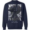 When You Pray For G180 Crewneck Pullover Sweatshirt  8 oz.