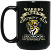 Grumpy Old Richmond Supporter BM15OZ 15 oz. Black Mug
