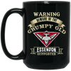 Grumpy old Essendon Supporter BM15OZ 15 oz. Black Mug