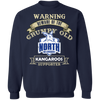Grumpy old North Melbourne G180 Crewneck Pullover Sweatshirt  8 oz.