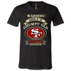 Grumpy Old San Francisco 49ers Supporter 3005 Unisex Jersey SS V-Neck T-Shirt