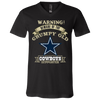 Grumpy Old Dallas Cowboys Supporter 3005 Unisex Jersey SS V-Neck T-Shirt