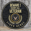 United States Veteran Wood Sign For Home Decor