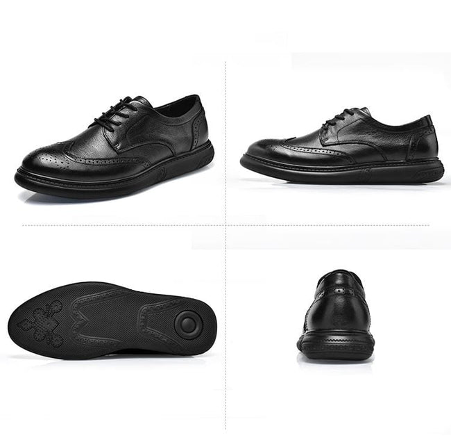 Brogue Genuine Leather Casual Shoes