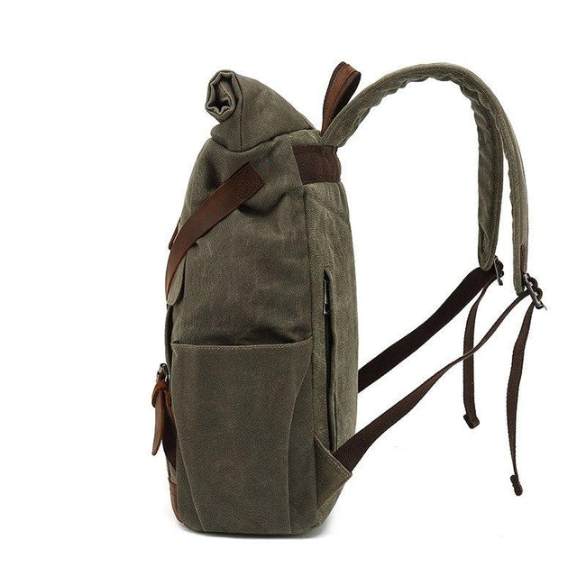 top goldman Adrano Canvas Waterproof Travel Backpack gray