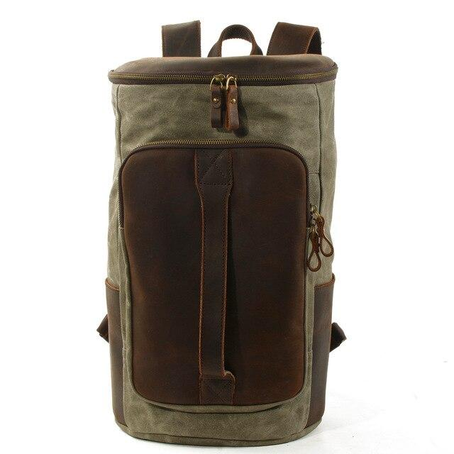 top goldman Arpino Canvas Travel Backpack Army Green
