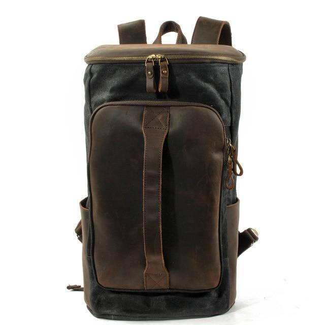 top goldman Arpino Canvas Travel Backpack Black