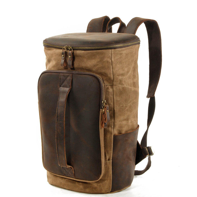 top goldman Arpino Canvas Travel Backpack Light Grey