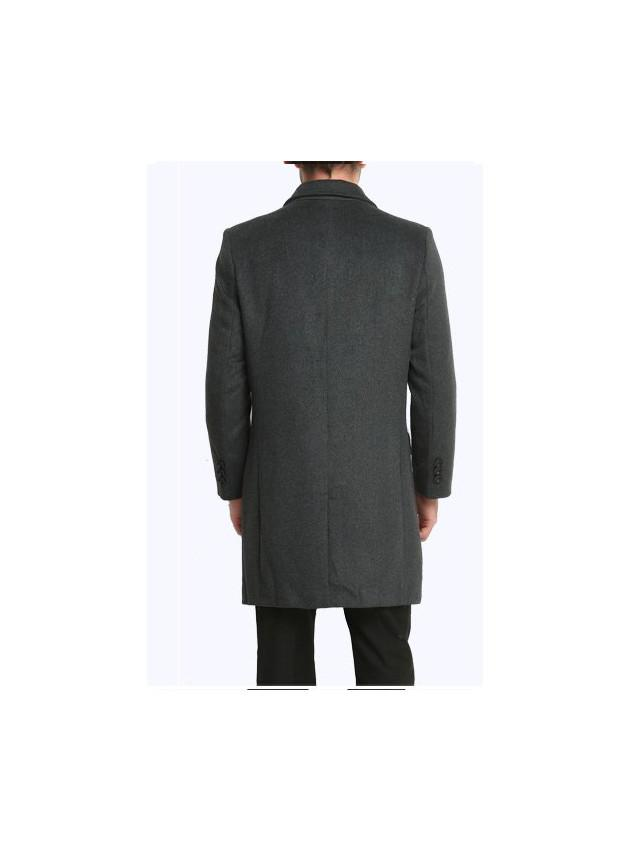 Avellino Double Button Wool Coat overcoats for men Black XXL