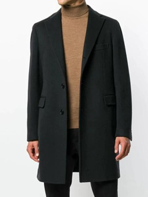 Avellino Wool Coat overcoats for men Black XXXL