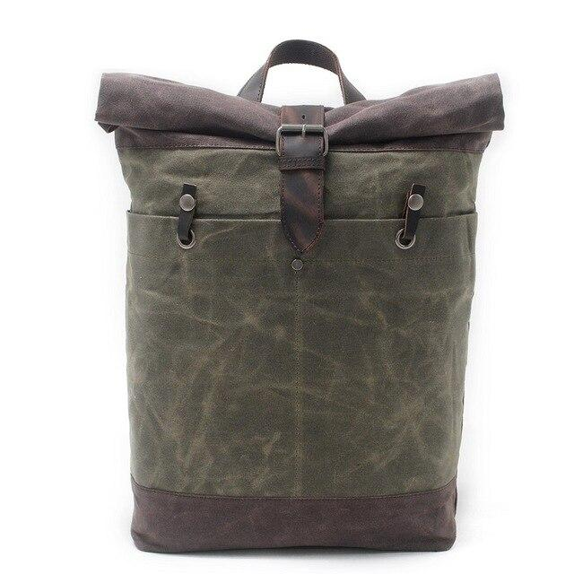 top goldman Belluno Canvas Travel Backpack army green