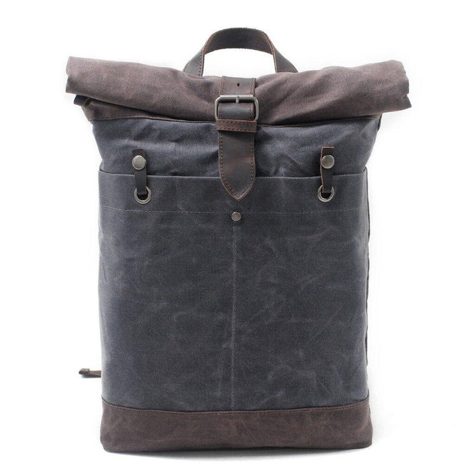 top goldman Belluno Canvas Travel Backpack dark gray