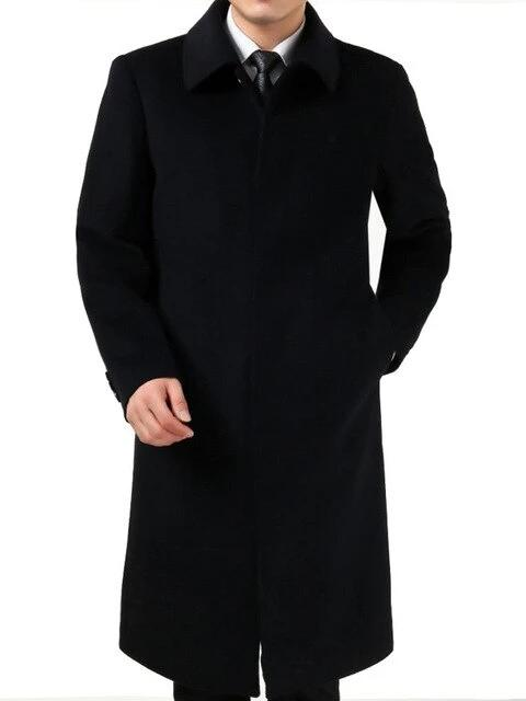 Bronte Cashmere Wool Coat overcoats for men Black M