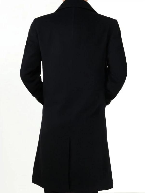 Bronte Cashmere Wool Coat overcoats for men Black with Cashmere M