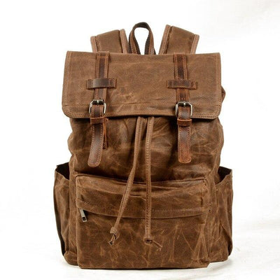 top goldman Desio Travel Backpack Wax brown