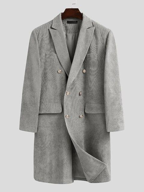 Ferrara Double Breasted Coat overcoats for men Gray S