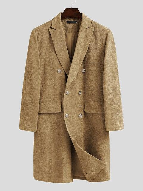 Ferrara Double Breasted Coat overcoats for men Khaki XXL