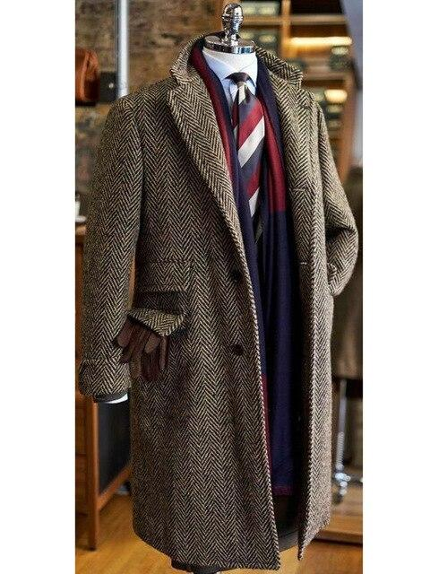 Imperia Wool Coat overcoats for men Brown M