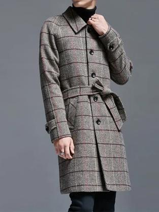 Lazio Wool Coat overcoats for men Gray L