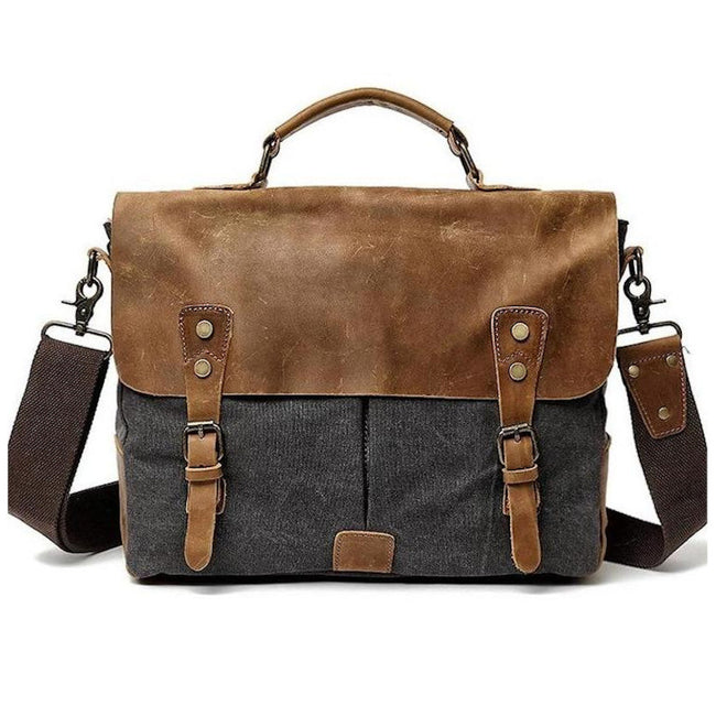 Lecco Canvas Messenger Bag