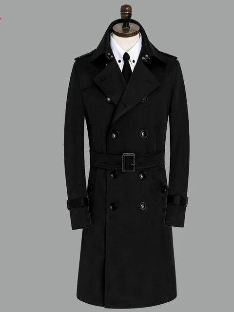 Licata Cotton Coat overcoats for men black 9XL