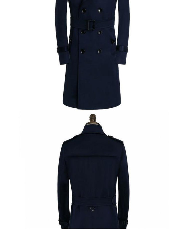 Licata Cotton Coat overcoats for men navy blue 7XL