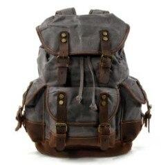 top goldman Loreto Canvas Waterproof Travel Backpack Gray