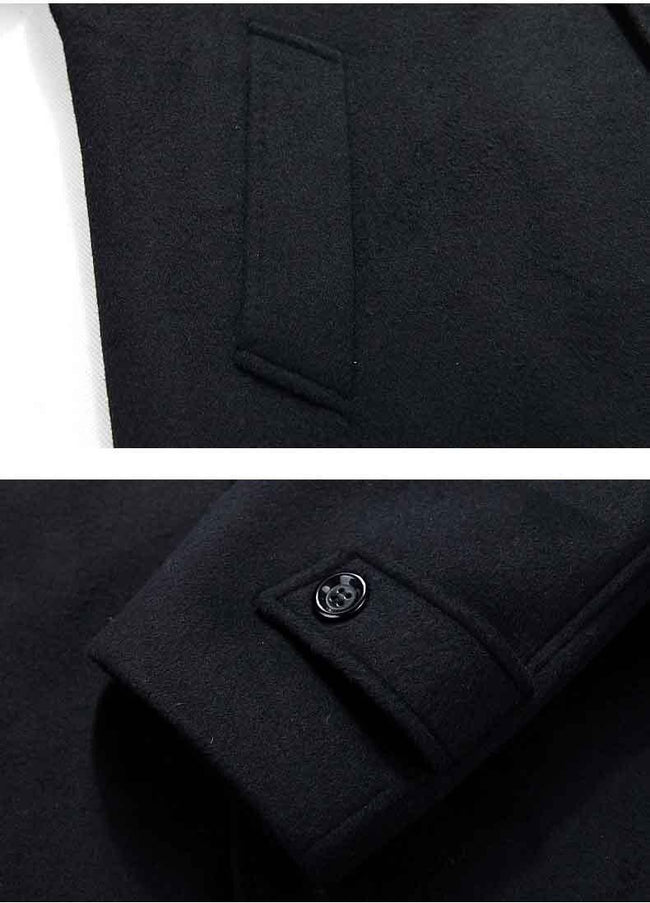 Merano Wool Coat overcoats for men 1327 black XL