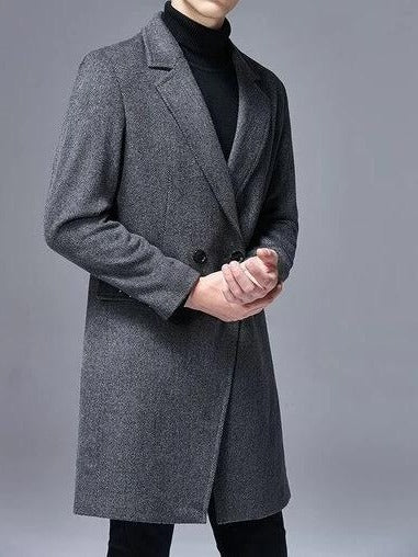 Modena Long Wool Coat overcoats for men Gray M