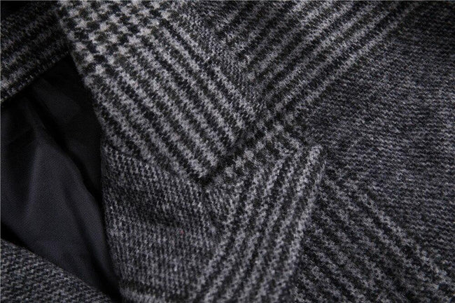 Mondovì Double Breast Wool Coat overcoats for men Dark gray XL