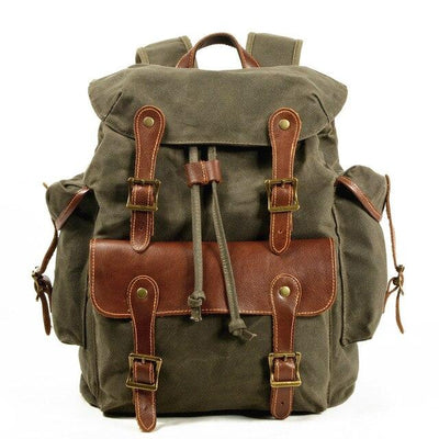 top goldman Orvieto Canvas Backpack Army Green
