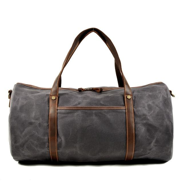 top goldman Orvieto Canvas Waterproof Travel Bag Dark Gray