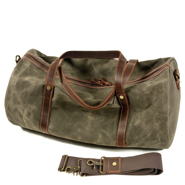 top goldman Orvieto Canvas Waterproof Travel Bag Green