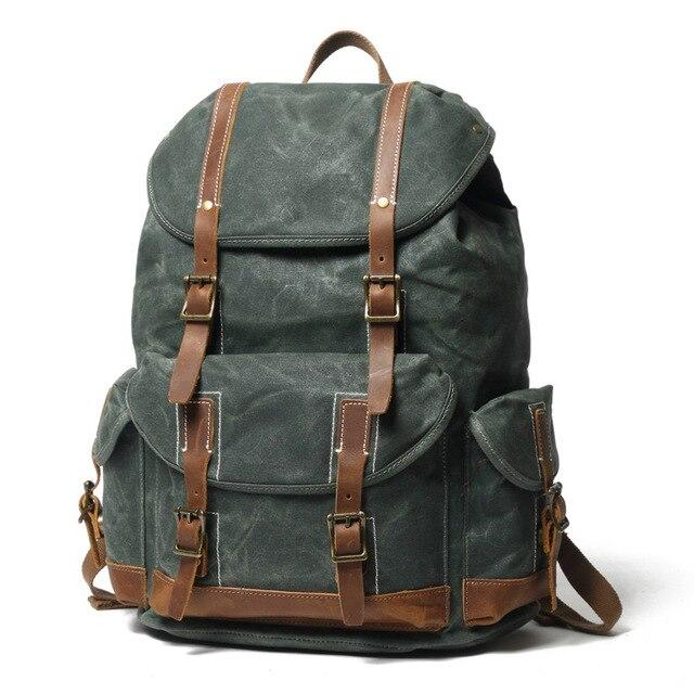 top goldman Otranto Canvas Waterproof Travel Backpack lake green