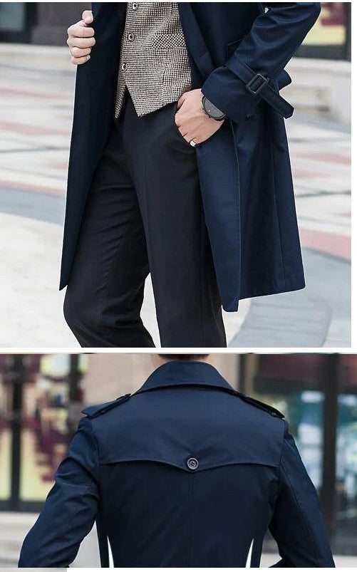Palermo Windbreaker Double Breasted Coat