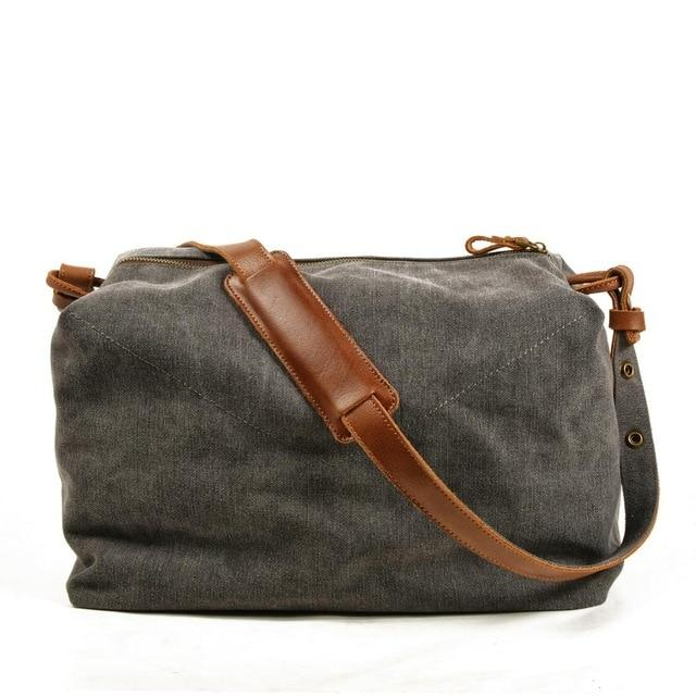 top goldman Piceno Canvas Travel Bag Dark Grey