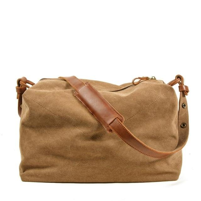 top goldman Piceno Canvas Travel Bag Khaki