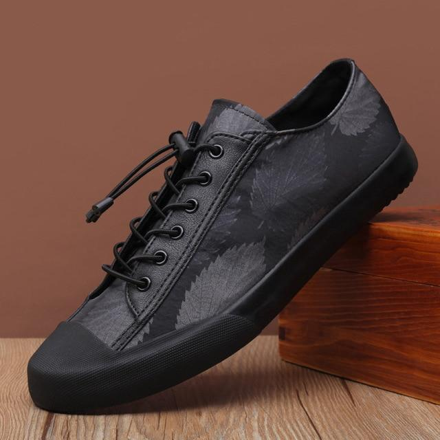 Lace-up Leather Casual Shoes