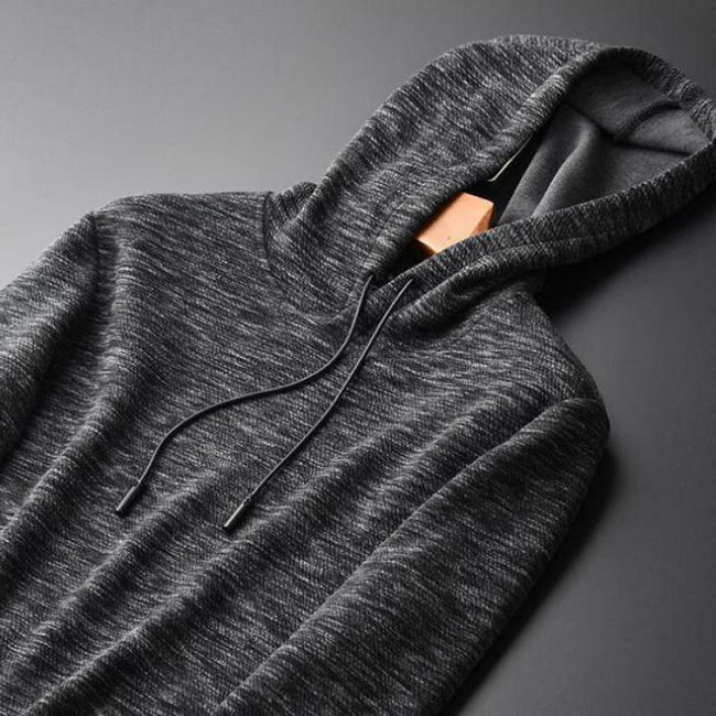 Yarn-dyed Pullover Grey Hoodies