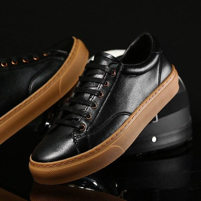 Genuine Leather Comfortable Lace-up Shoes