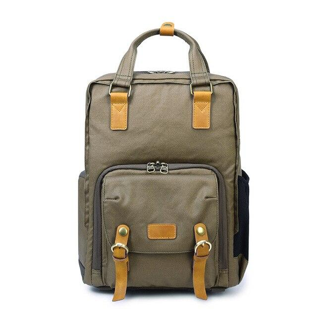topman topgoldman boss genuine leather bag backpack for men-Army Green-