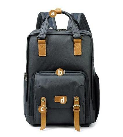 topman topgoldman boss genuine leather bag backpack for men-Khaki-