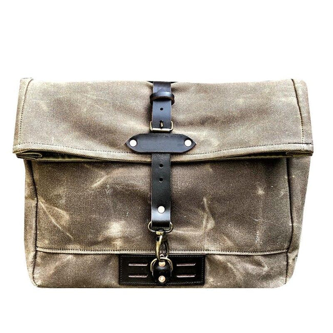 top goldman Siena Canvas Messenger Bag Khaki